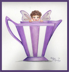 Purple Pitcher Fairy by Patsy Schultis